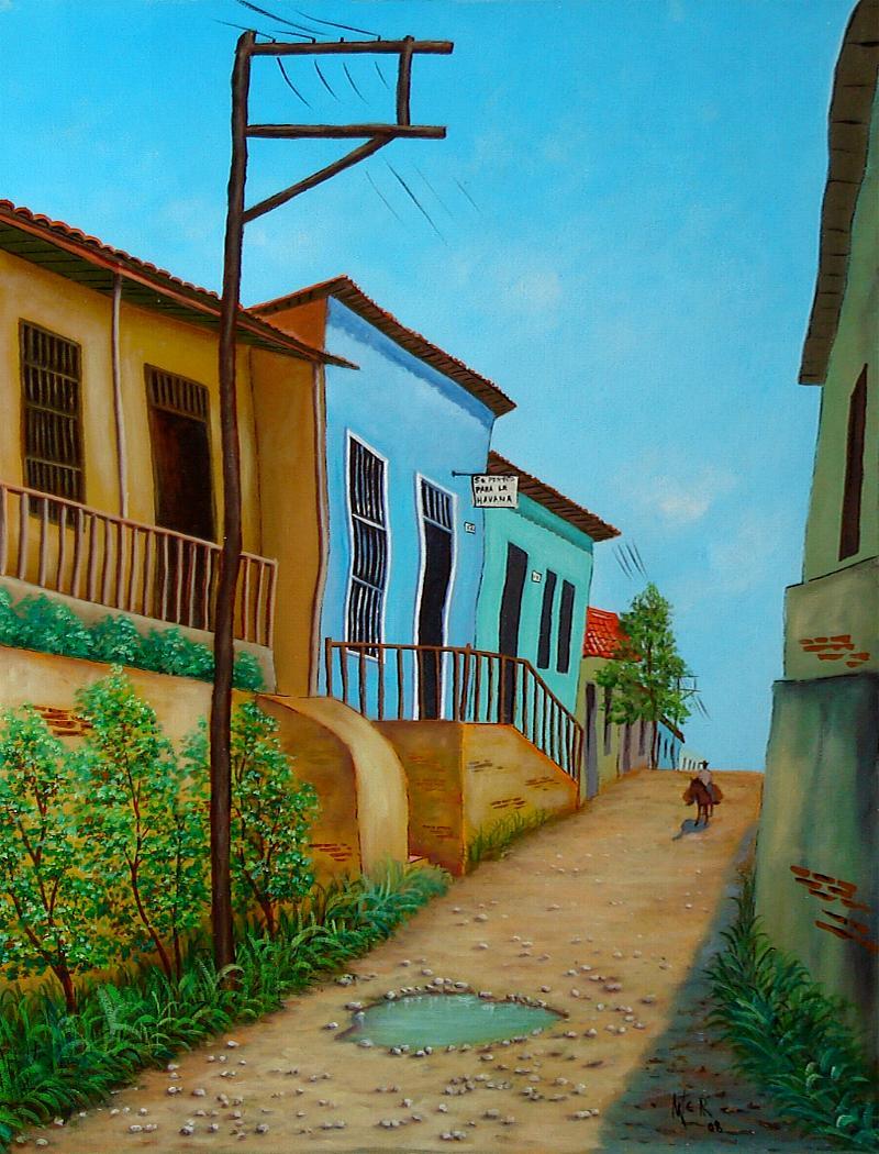 El Callejan by Artemio Alvarez Ramirez