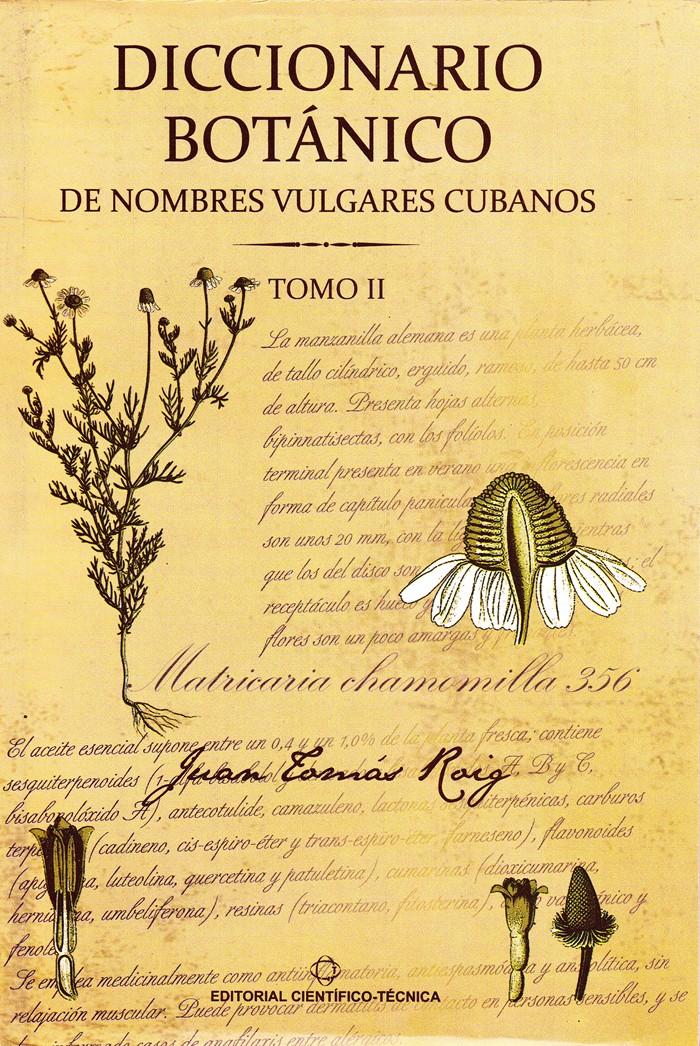 Diccionario Botanico Tomo 2 - Juan Tomas Roig